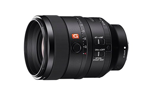 Sony SEL100F28GM 100mm f2.8 Medium-telephoto Fixed Prime Camera Lens, Black