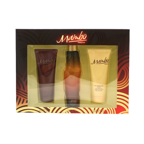 Mambo By Liz Claiborne For Men. Gift Set Cologne Spray 3.4-Ounce + Hair & Body Wash 3.3-Ounce + Body Moisturizer 3.3-Ounce Bottle by Liz Claiborne (Image #1)
