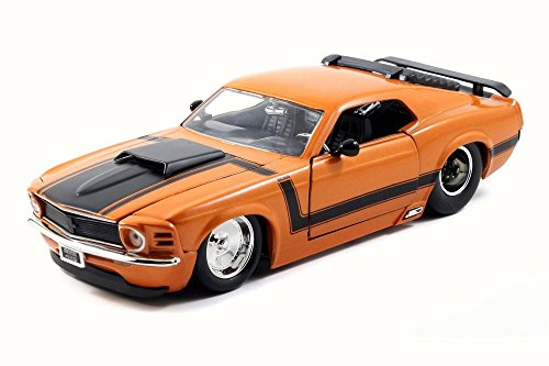 1970 Ford Mustang Boss 429, Orange - JADA 98026 - 1/24 Scale Diecast Model Toy Car -  980261970OR