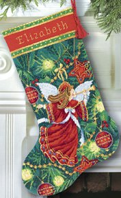 Dimensions Gold Collection Christmas Angel Stocking Needlepoint Kit