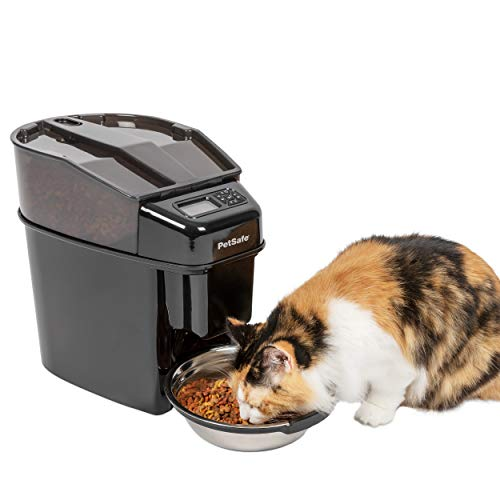 - PetSafe Healthy Pet Simply Feed Automatic Pet Feeder, Dispenses Dog Food or Cat Food, Digital Clock