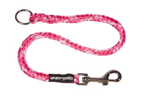 """EzyDog Standard 24-Inch Rope Dog Leash Extension - Reflective Trim for Nighttime Safety - Add 2 for Walking 2 Dogs Tangle Free with Our Cujo Leashes (24"""", Pink Camo)"""