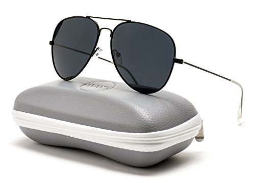 WearMe Pro - Premium Classic Fashion Design Polarized Lens Aviator - Aviators Black Mens