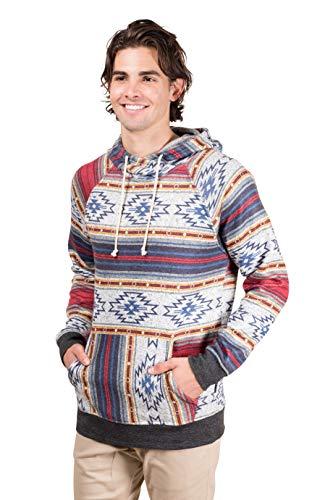 - Brooklyn Surf Men's Fleece Hoodie Pullover Sweatshirt Desert Stripe Cozy Knit, Multicolor, Large