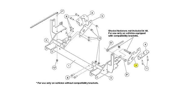 Mount Thrust Arm Bracket for Mount 33886-1 Western SnowEx Part # 43461