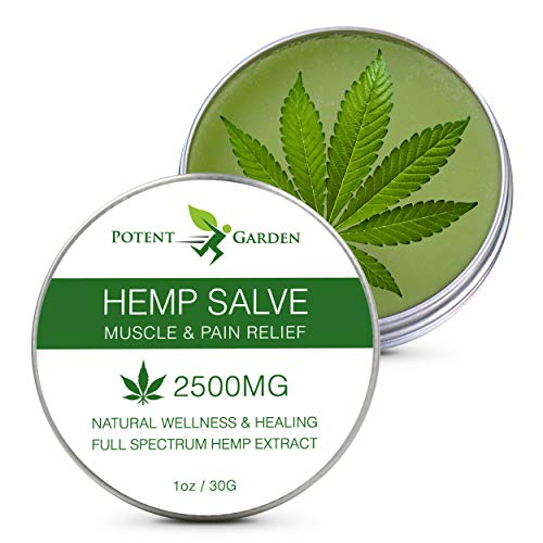 Hemp Oil Salve for Pain Relief - Max Strength & Efficiency - Hemp Skin Cream Balm for Inflammation, Muscle, Joint, Hands, Back, Knees & Arthritis - All-Natural Ointment - Fast Acting & Non-Greasy Hemp
