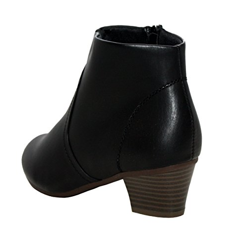 New Ladies Womens PU Suede Fashion Chelsea Zip up Formal Office Work Ankle Boots Shoes UK Sizes 3-8 Black/Sasha cuqCgx7nvj