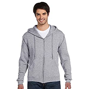 Fruit of the Loom Adult Long-Sleeve Zip Hooded Sweatshirt_Athletic Heather_2XL