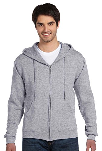 - Fruit of the Loom Adult Long-Sleeve Zip Hooded Sweatshirt_Athletic Heather_2XL
