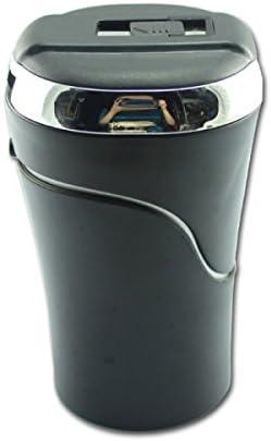 カバー付き車の灰皿カーアクセサリークリエイティブ灰皿ギフト(13.5 * 6.8cm) YCHAOYUE (Color : Silver)