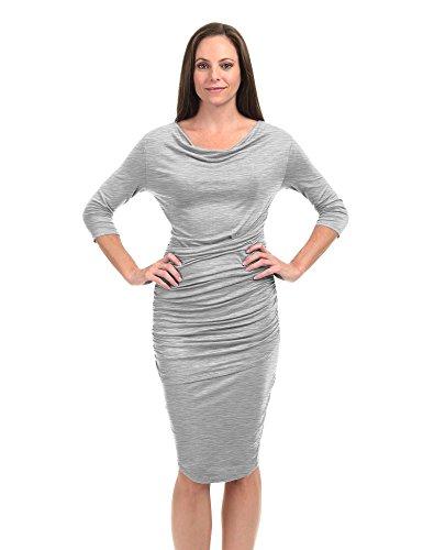 Sleeveless Pleated Maternity Dress - 8