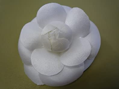 Amazon 3 classic camellia silk fabric flower pin white 3quot classic camellia silk fabric flower pin white mightylinksfo