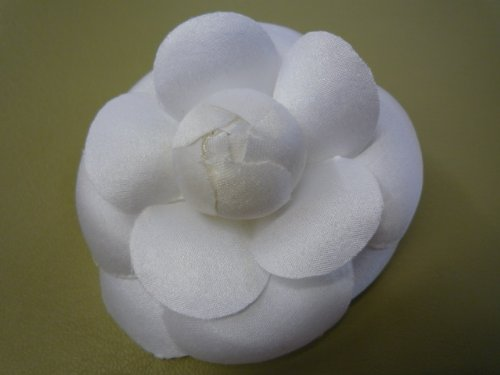 Amazon 3 classic camellia silk fabric flower pin white amazon 3 classic camellia silk fabric flower pin white brooches and pins jewelry mightylinksfo
