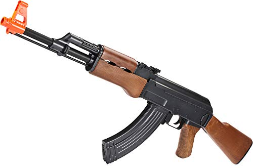 Evike Full Size AK47 Replica Airsoft Spring Action Rifle with Full Stock