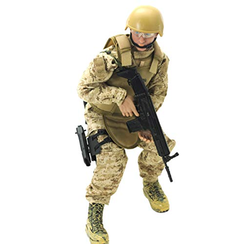 HMANE 12Inch 1:6 Scale Realistic Soldier Model Toy Doll Movable Joint Bendable Action Figure Military Soldier Model - (Navy Seal)