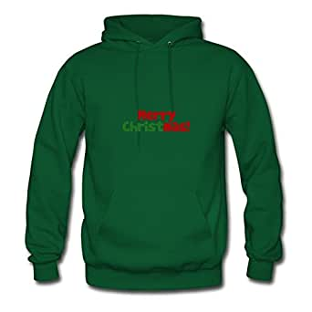 Custom-made Cool Merry Christmas Chic Hoodies In Green Women Cotton X-large