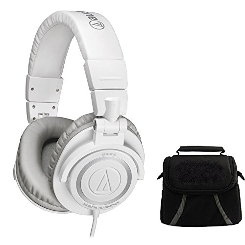 audio-technica-ath-m50-professional-studio-headphones-w-coiled-cable-ice-white-deluxe-bundle-include