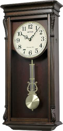 Rhythm Clocks Rembrant II Wooden Musical Mantel Clock