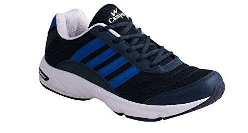 e0b8a8602f7cf6 Campus Antro-3 Men s Blue   White Sport Shoes Size- 9  Buy Online at Low  Prices in India - Amazon.in