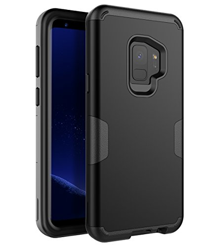 TOPSKY Samsung Galaxy S9 Case,Three Layer Heavy Duty High Impact Resistant Hybrid Bumper Shockproof Anti-Scratch Non-Slip Protective Case Cover For Galaxy S9 (2018)