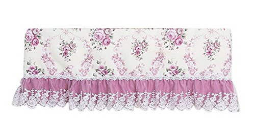 Gentle Meow All-Inclusive Air Conditioning Cover 1.5P Hanging Anti-dust Cover Flowers Purple