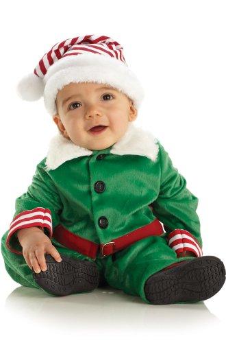 Underwraps Costumes Baby Boy's Elf Boy, Green/White/Red, Large (Male Elf Dress Up)