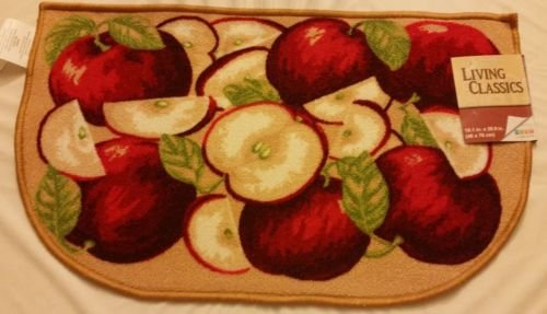 The Pecan Man Bunch Apples KITCHEN RUG (non skid latex back),1Pcs 18x30