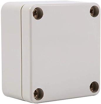 Caja estanca de conexiones ip 66, Caja de proyecto de plástico abs uso para el exterior(65 * 60 * 35mm): Amazon.es: Bricolaje y herramientas