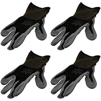Delicieux 4 Pack Showa Atlas 370BBK Atlas Nitrile Tough Gloves   Large