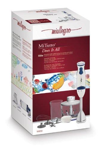 Miallegro 9090 Mitutto 550-Watt Immersion Hand Blender, Professional-style