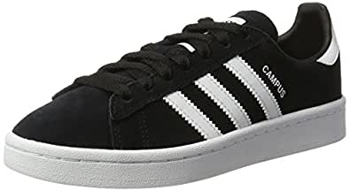 adidas Boys' Campus Shoes, Core Black/Footwear White/Footwear White, 1 US (1 AU)