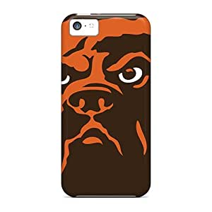 Iphone 5c Hard Back With Bumper Silicone Gel Tpu Cases Covers Cleveland Browns
