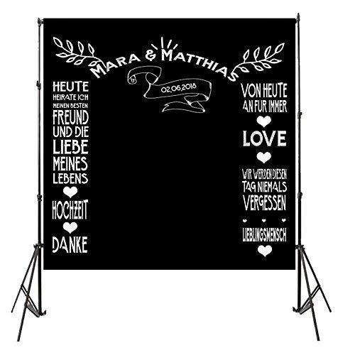 Fotobox Banner Hintergrund Hochzeit - Backdrop Photobooth