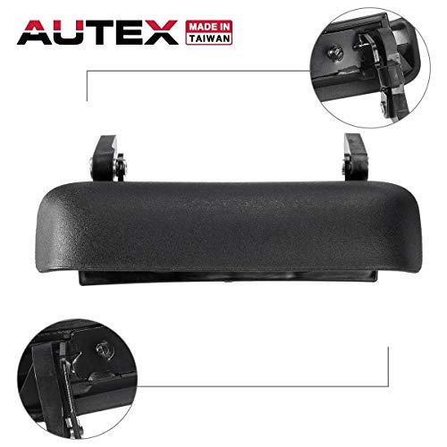 AUTEX 90695 Tailgate Handle Textured Black Lift Gate Rear Latch Door Handle Compatible with 1998 1999 2000 2001 2002 2003 2004 05 06 07 08 09 10 11 Ford Ranger Mazda B2300 B2500 B3000 B4000 FO1915109 ()