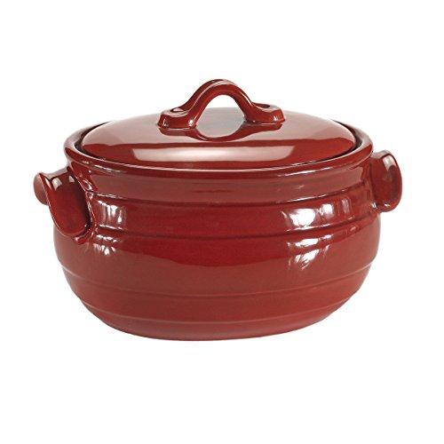 Celebrating Home Celebrations Bean Pot (stoneware casserole dish) - oven, microwave & dishwasher (4 Quart Bean Pot)