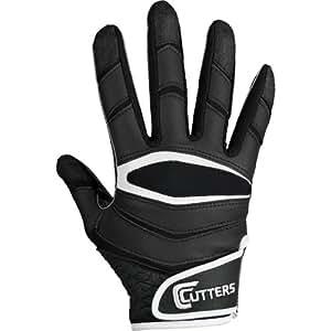 Cutters Gloves C-TACK Revolution Football Gloves (Black, Small)