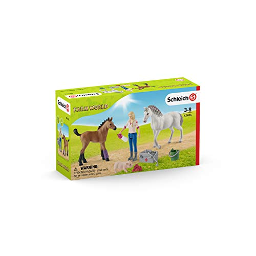 Schleich Vet Visiting Mare & - Mare Foal