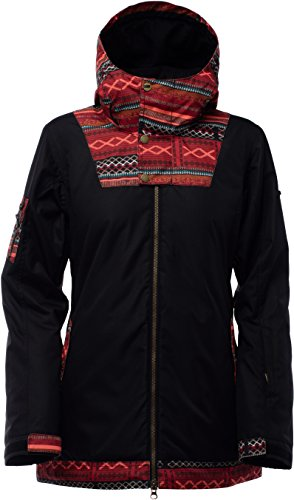 Bonfire Snowboarding Jacket - Bonfire Black-Entho Pop Topaz Womens Snowboarding Jacket (Xs , Black)