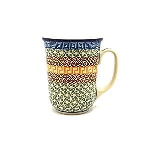 Polish Pottery Bistro Mug – 16 Oz – Autumn – Ceramika Artystyczna