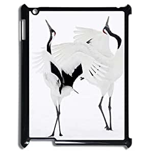 ALICASE Diy Cover Custom Case Red crowned Crane For IPad 2,3,4 [Pattern-1]