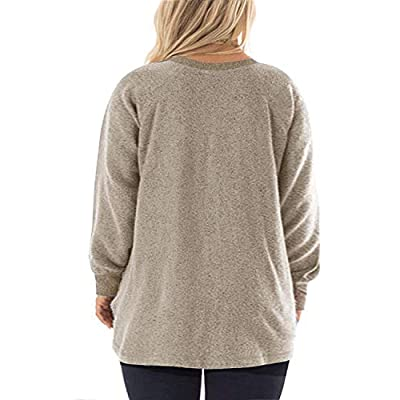 DOLNINE Women's Plus Size Sweatshirts Color Block Long Sleeve Pocket Shirts Tops at Women's Clothing store