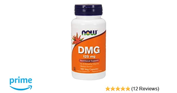 NOW Foods - DMG 125 mg 100 caps (Pack of 3)