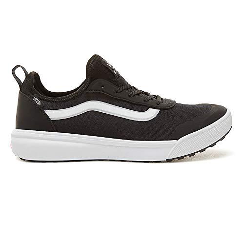 Vans Unisex Ultrarange AC Skateboarding Shoes (11 Women / 9.5 Men M US, Black/True White)