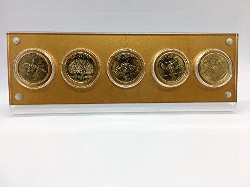 - NewLink 1999 Gold-Layered Statehood Quarters Set, Denver Mint with stand