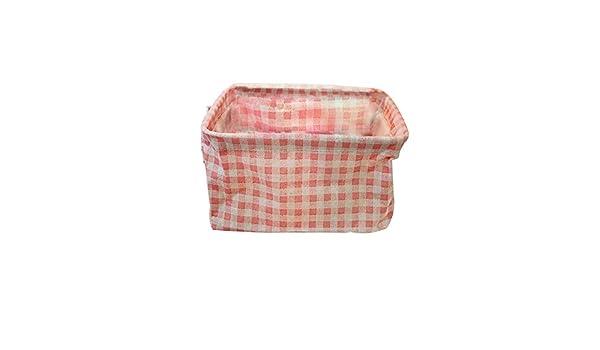 Lino y algod/ón, para Juguetes, Ropa o peque/ños Objetos, Manta Rosa Doitsa 1pcs cesto para Ropa Plegable