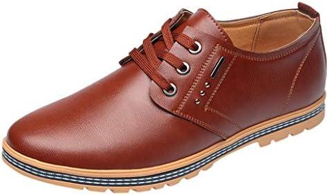 Herrenschuhe Freizeit Lederschuhen Business Schuhe Freizeitschuhe Schnürschuhe runde Zehen Schuhe rutschfeste Herrenschuhe
