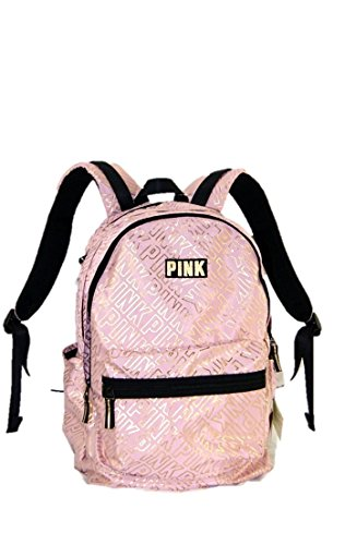 Victoria's Secret PINK Campus Backpack Cocoon Gold pink School bag Book bag NEW