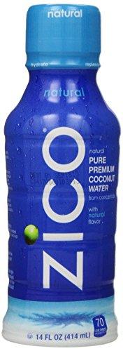ZICO Premium Coconut Water, Natural, 14 fl oz (Pack of 12)