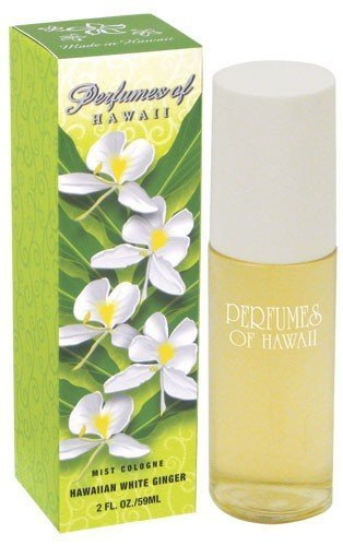Hawaiian White Ginger Mist Cologne - Perfumes of Hawaii - 2 Fl. - Ginger White Scent