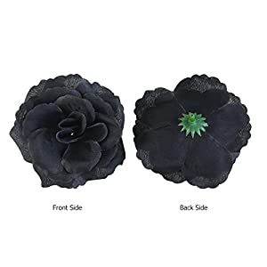 WINOMO 20pcs Silk Rose Flower Heads for Party Home Decoration (Black) 2